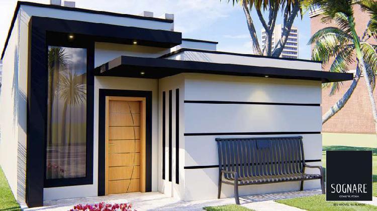Casa 70 m² + lote 200 m² + toda documentação