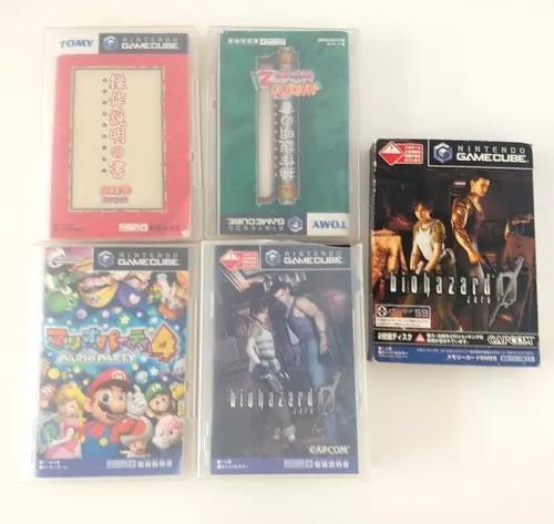 5 jogos resident 0 naruto marioparty 4, onepiece gamecube jp