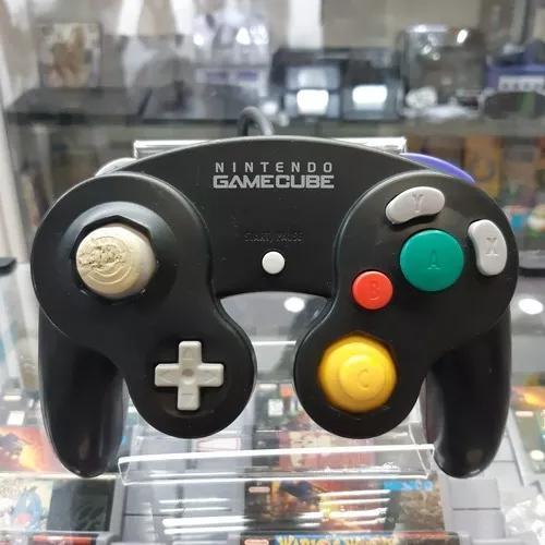 Controle original nintendo gamecube preto