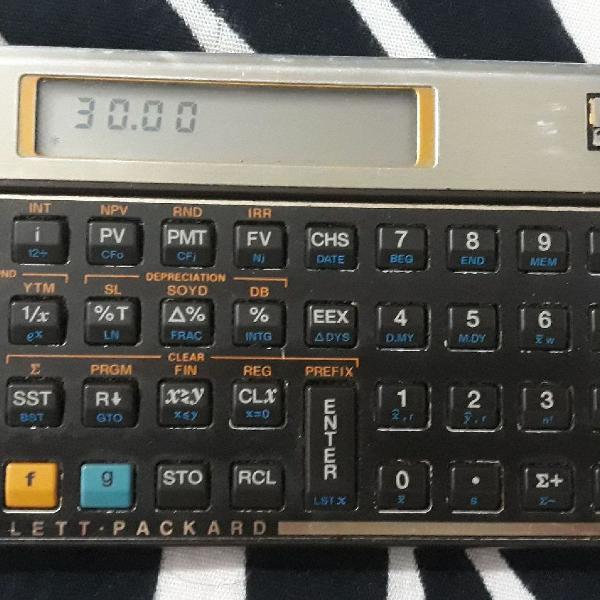 Hp 12c usada modelo antigo