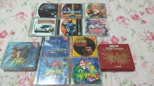 Lote de jogos sega dreamcast original + 2 ps1