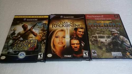 Medal of honor + day of reckoning g.cube + jogo play 2 novo.