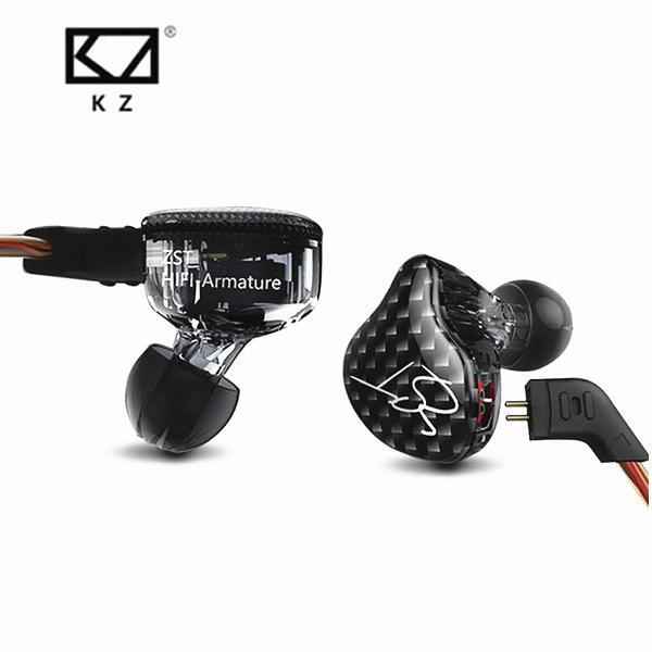 Fone para musicos retorno de palco monitor kz zst