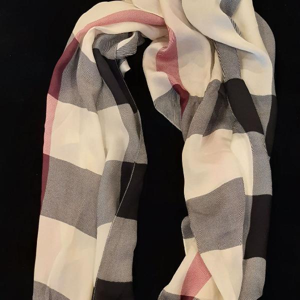 Burberry silk scarf - lenço ìcone burberry 100% seda