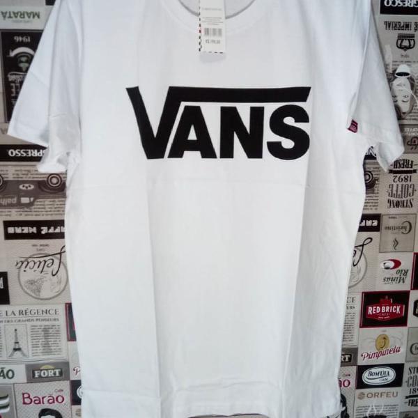 Camiseta vans 100% algodão tamanho g branca
