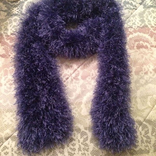 Manta ouriço azul violeta