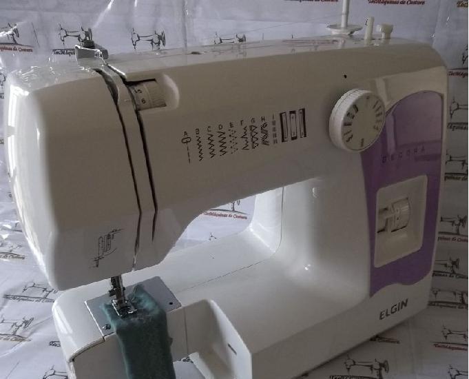 Máquina costura elgin decora - usada - 220v