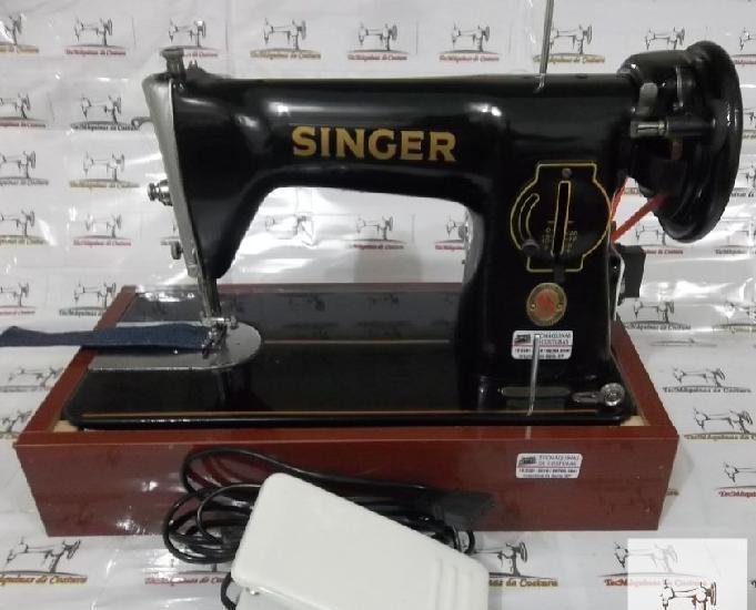 Máquina costura singer 15c - usada excelente estado geral