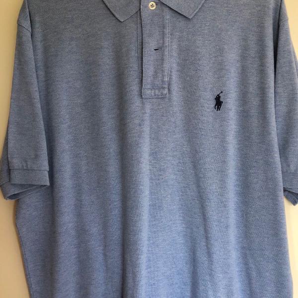 Camisa polo masculina polo ralph lauren azul