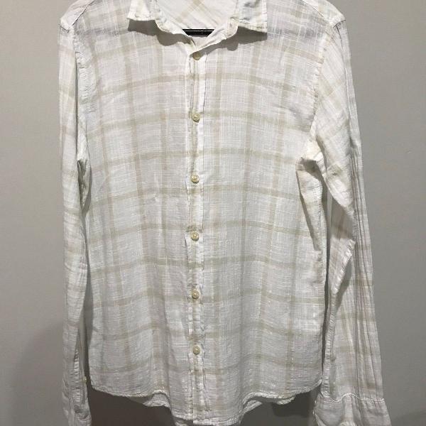 Camisa reserva manga longa rede