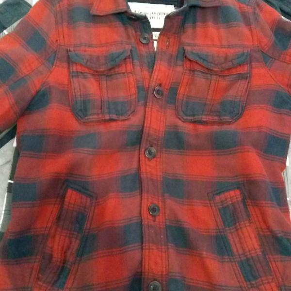 Camiseta xadrez vermelha masculino