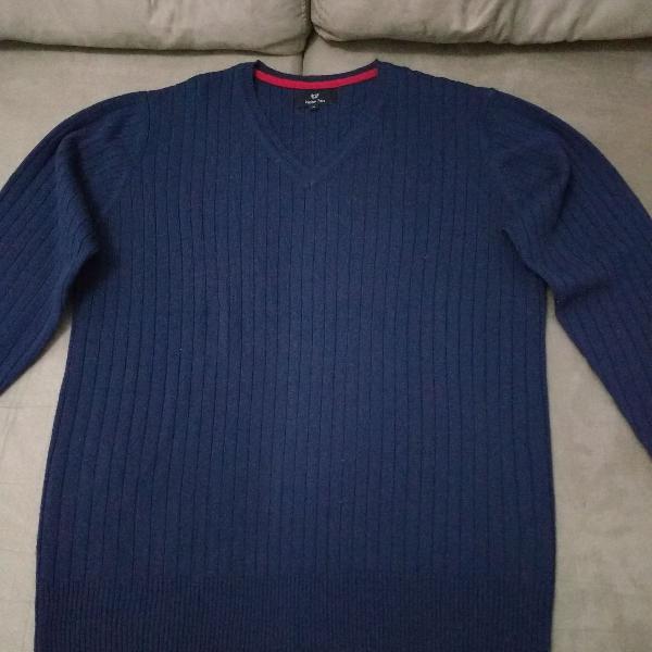 casaco/blusa preston field azul marinho tamanho m