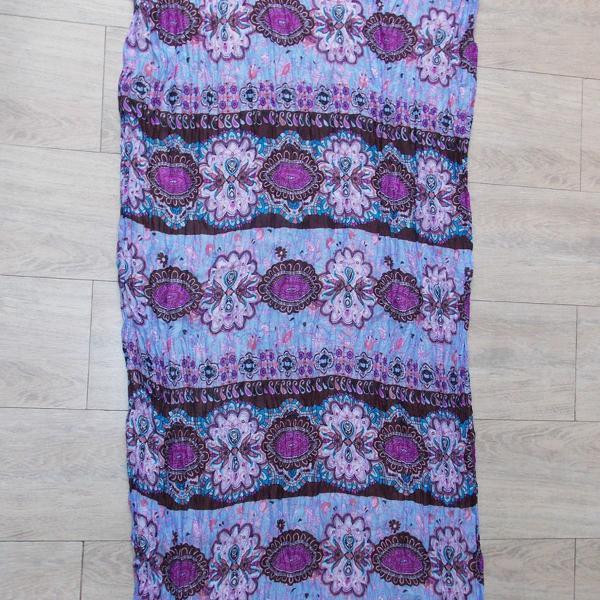 Lenço / canga indiana em tons azul e lavanda