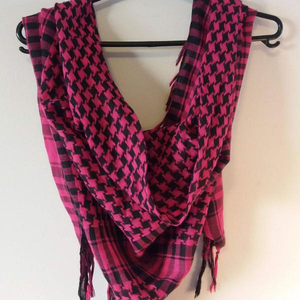 lenço turco rosa
