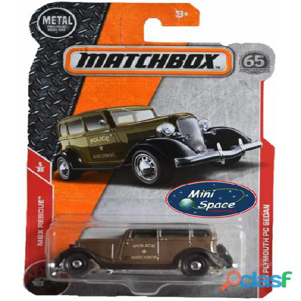 Matchbox 1933 Phymouth Pc Sedan Depto Polícia 1/64 1