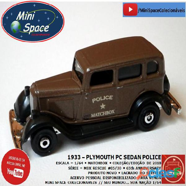 Matchbox 1933 Phymouth Pc Sedan Depto Polícia 1/64 4