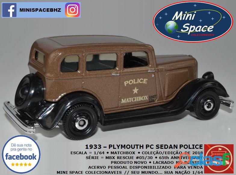 Matchbox 1933 Phymouth Pc Sedan Depto Polícia 1/64 5