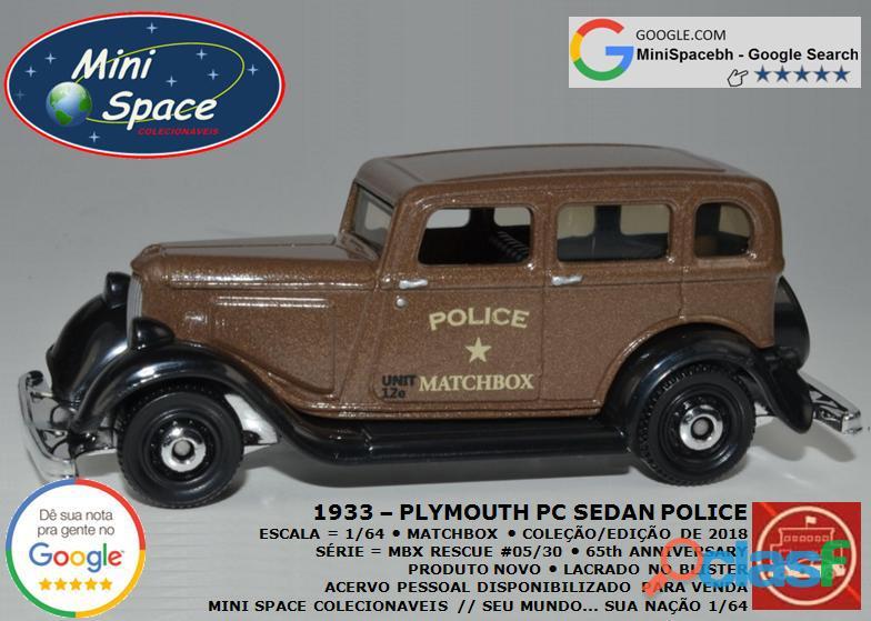 Matchbox 1933 Phymouth Pc Sedan Depto Polícia 1/64 6