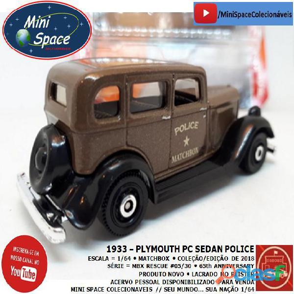 Matchbox 1933 Phymouth Pc Sedan Depto Polícia 1/64 7