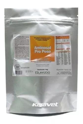 Aminosol pro peso sache 1 kg - lavizoo (ganho de peso)