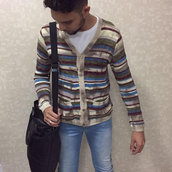 Bolsa masculina estilo tote bag