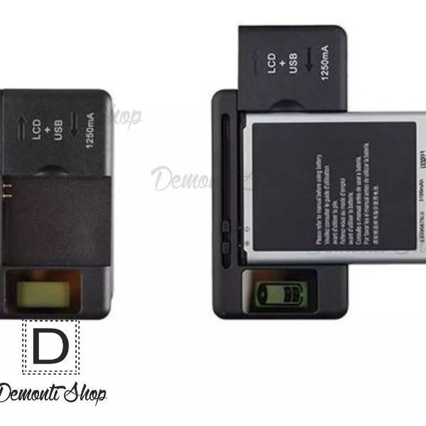 Carregador universal móvel bateria celular usb porta lcd