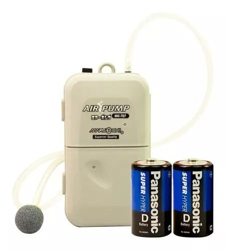 Compressor de ar 1 saída c/ pilhas aquário, pesca, isca