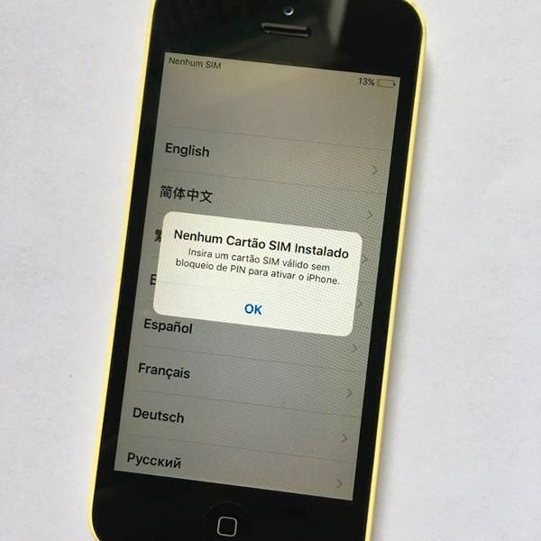 Iphone 5c amarelo - 8gb