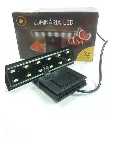 Luminária led 5w soma x3 para aquários - bivolt