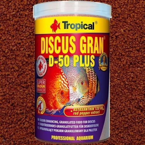 Ração tropical discus gran d-50 plus 220g ideal para