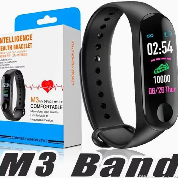Smartband m3 pulseira inteligente monitor cardíaco, passos