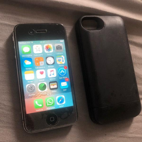 Iphone 4s + capinha carregadora (mophie)