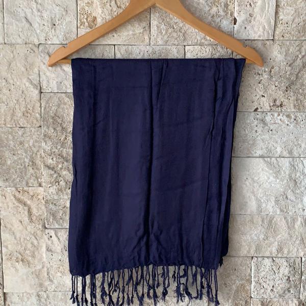 Lenço algodão azul marinho