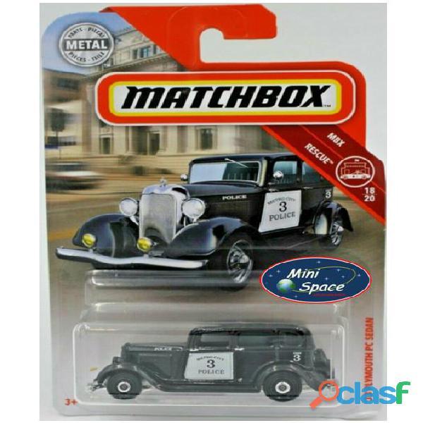 Matchbox 1933 Phymouth Pc Sedan Preto Depto Polícia 1/64 9