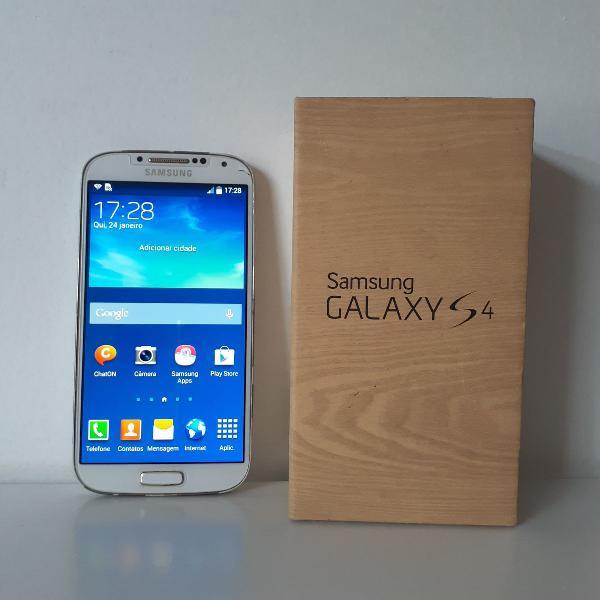 Samsung galaxy s4 16gb + 2 capinhas + carregador portátil