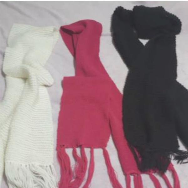 Trio de cachecóis para aquecer o seu inverno