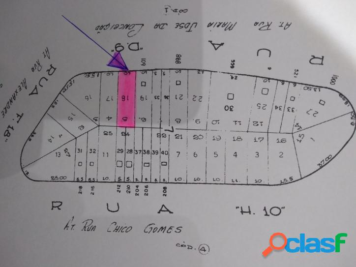 Terreno 320 m2 (10 x 32) zeis-1 - vila das belezas - zona sul - sp
