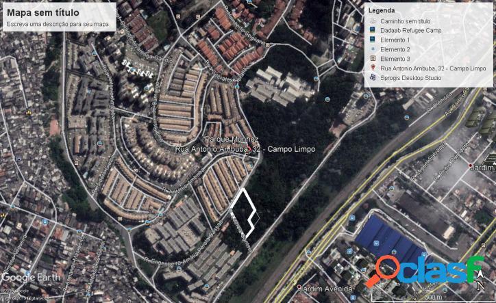 Terreno 5.340 m2 (zm) 1 km do metrô campo limpo e shopping (zona sul sp)