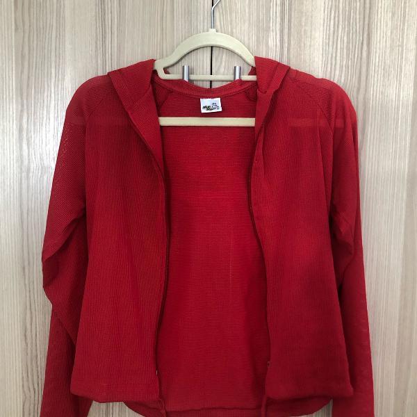 Blusa de academia vermelha bluebeach