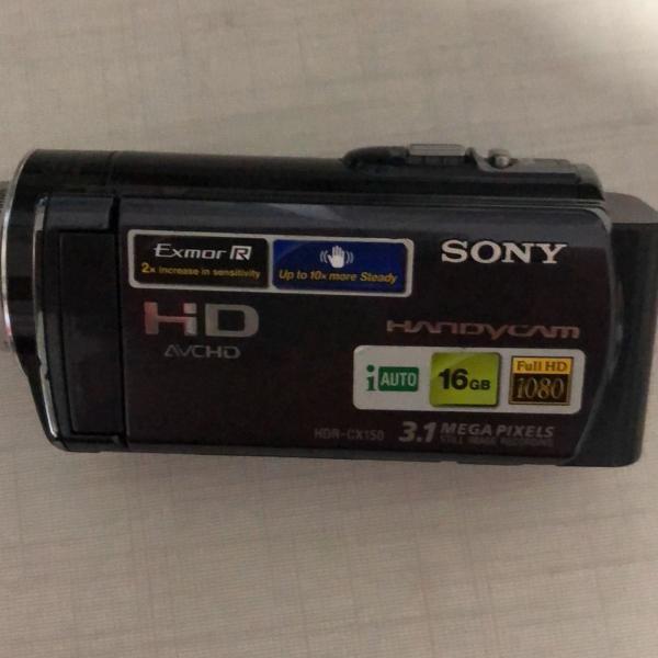 Filmadora sony cx 150 full hd