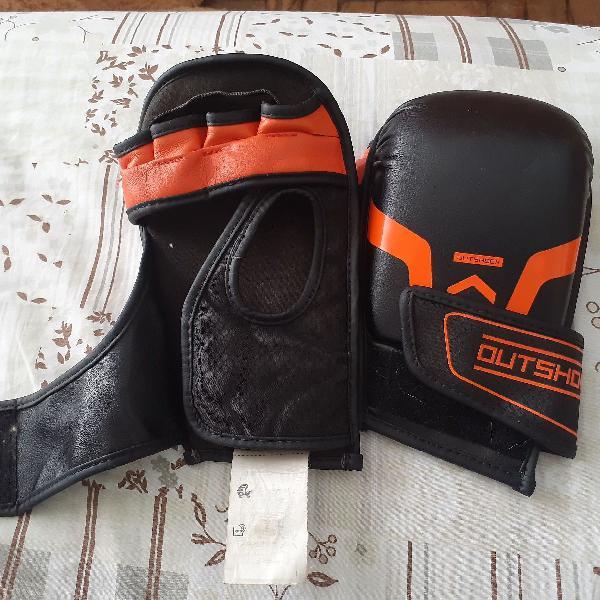 Luvas de boxe feminino em couro e tecido tamanho xl
