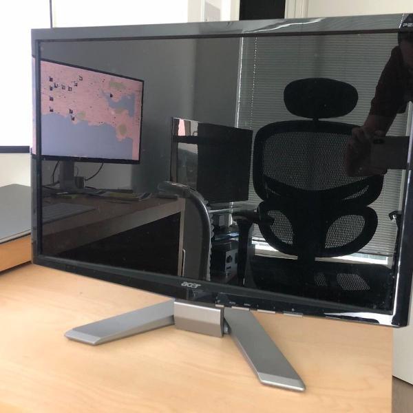 Monitor acer lcd p223w de 22 polegadas, widescreen seminovo