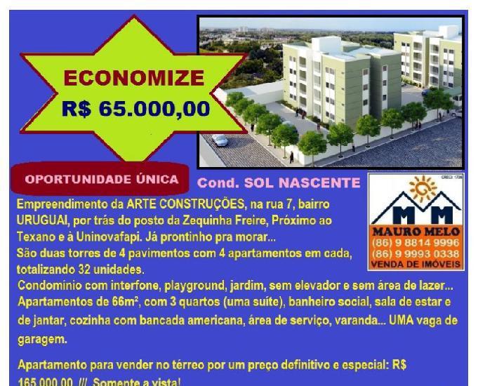 ECONOMIZE R$ 65 mil APTº ZONA LESTE