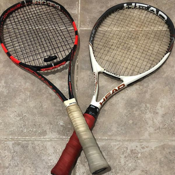 2 raquetes pra tênis