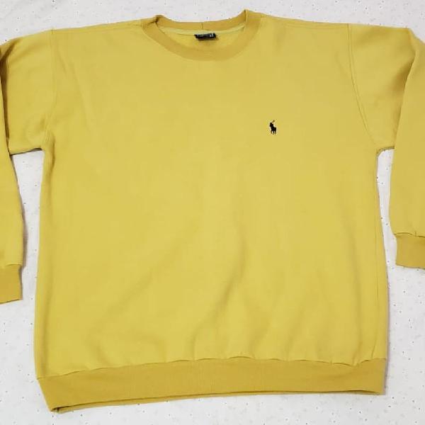 Blusa de moletom amarela