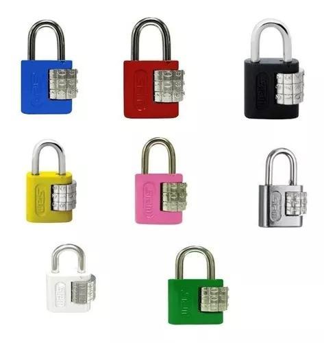 Cadeado stam segredo 25mm para malas etc - várias cores!