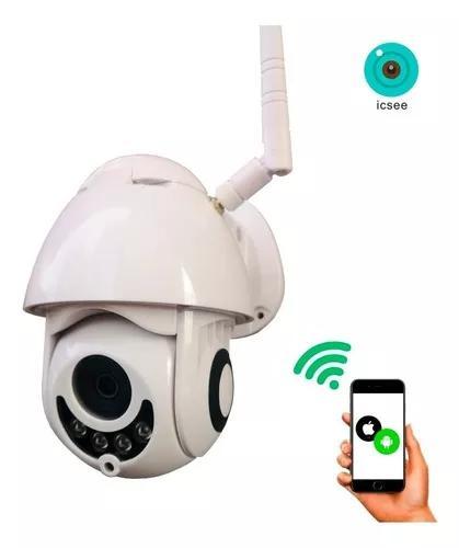 Câmera ip externa wifi dome infra prova d'água icsee hd