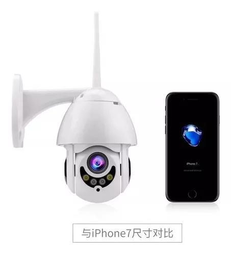 Câmera ip ptz dome prova d'água infravermelho externa wifi