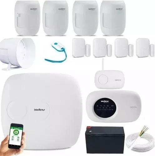 Kit alarme central amt 1016net aplicativo celular inbtelbras