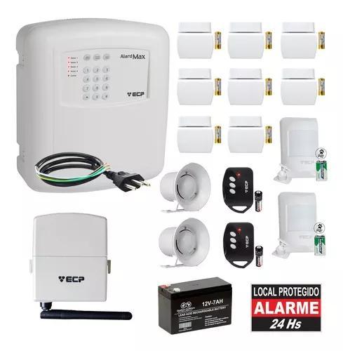 Kit alarme residencial gsm ecp chip s